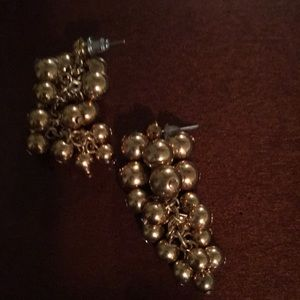 Pair of grapes. Gold plate  earring